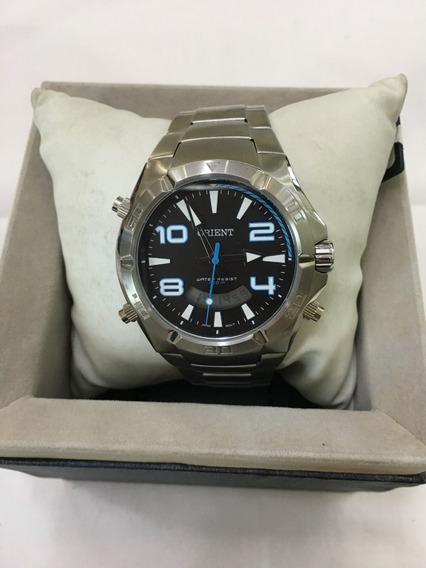 Relógio De Pulso Orient 041 Prata Masculino 10atm Original
