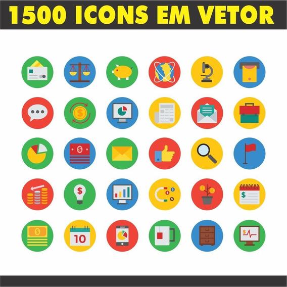 1500 Artes Vetorizadas De Icons