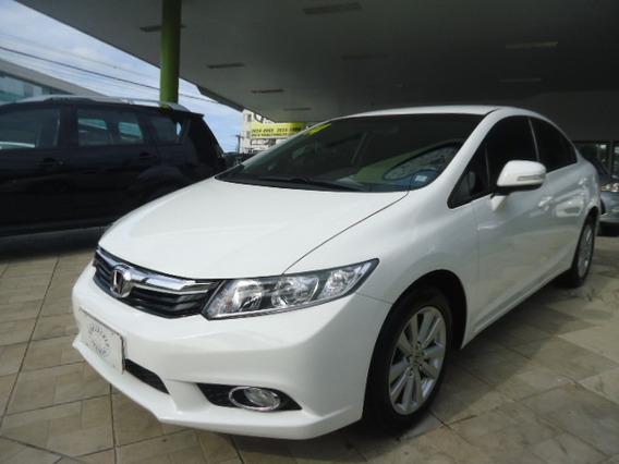 Honda Civic Lxr 2.0 Flex Branco 2014