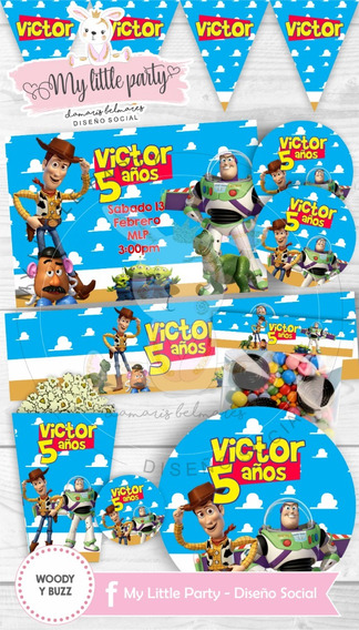 Kit Imprimible Candy Bar Toy Story Woody Envío Automático