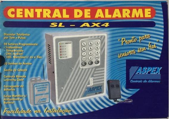 Kit Central Alarme Sl-ax4 433mhz C/ Controle - Não Inclui Sensor, Sirene, Bateria