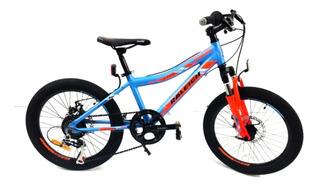 Bicicleta Raleigh Rowdy Rodado 20 Varon Niño Aluminio 7 Vel