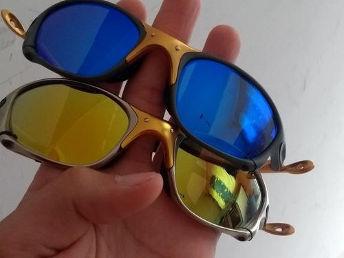 24k Gold E Lente Azul