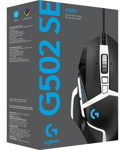 Mouse Logitech G502 Se Hero Rgb Lightsync Gaming 16.000dpi