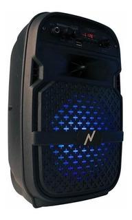 Parlante Noga Bluetooth Karaoke Bateria Fm Microsd Usb 75w