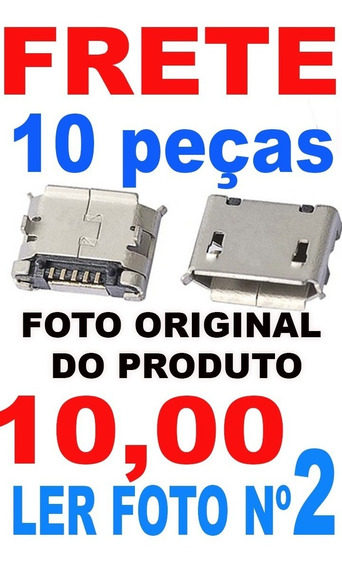10 Conector Pcb Micro Usb Ler Anuncio Fêmea 5 Pinos Nw