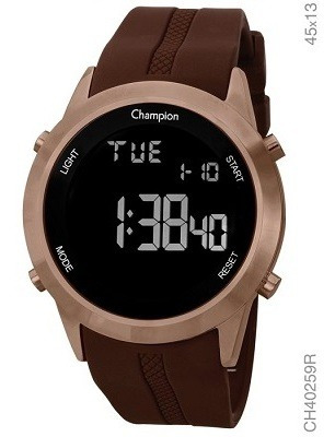 Relogio Champion Unissex Marrom Digital Ch40259r