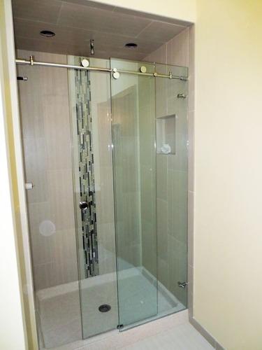 Imagen 1 de 8 de Cancel De Baño Cozumel Diseño Moderno Y Elegante Para Vidrio