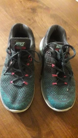 Zapatillas Nike Mujer Flyknit Lunar 3 Talle 37