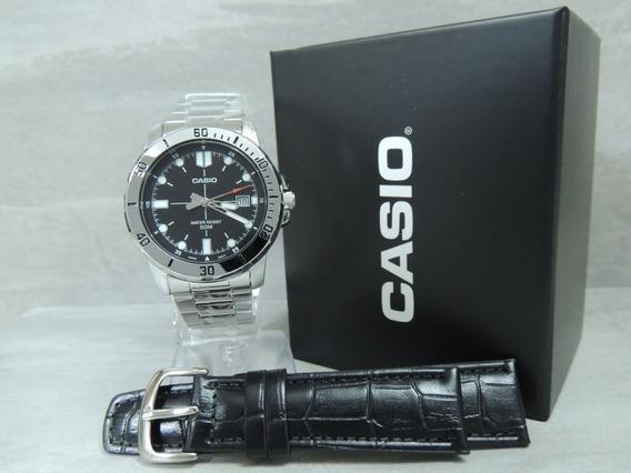 Relógio Masculino Casio Mtp-vd01d-1evudf + Pulseira Extra Nf