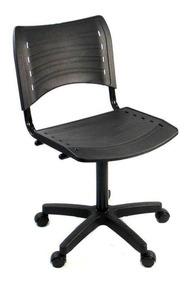 Cadeira Iso Giratoria Preta Atendimento Escritorio