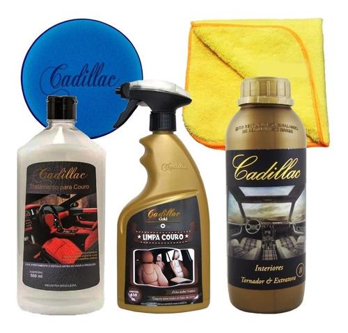 Kit Limpeza Hidratação De Couro Banco De Couro Apc Cadillac