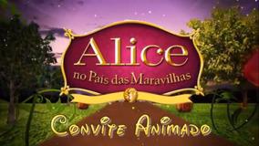 Convite Digital Animado Alice No País Das Maravilhas