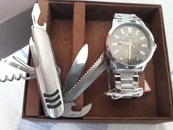 Relógio Masculino Kit Mondaine