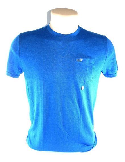 Camisa Hollister Masculina Original Azul Tamanho P