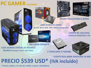 Pc Gamer Amd-intel-8o16 Gb Ram-ssd120gb-hdd1tb
