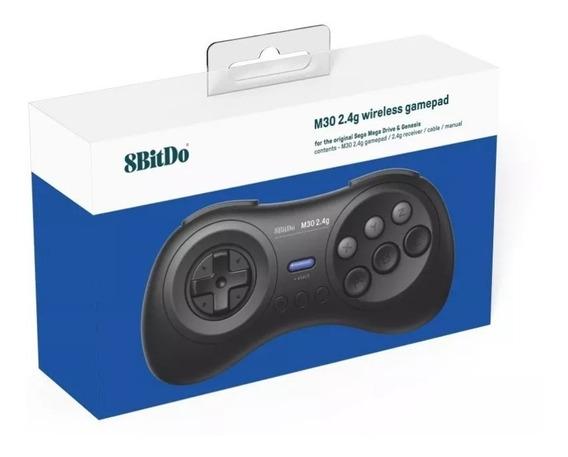 8bitdo M30 Sem Fio Controle Sega Mega Drive Original Novo