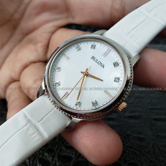 Relógio Feminino Bulova Diamonds 98p171 Madrepérola