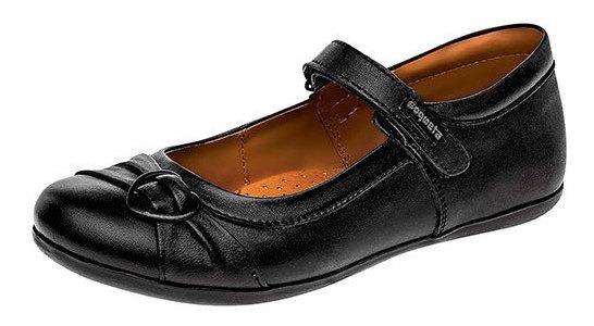 Zapato Piso Coqueta Negro Piel Mujer Broche C83745 Udt