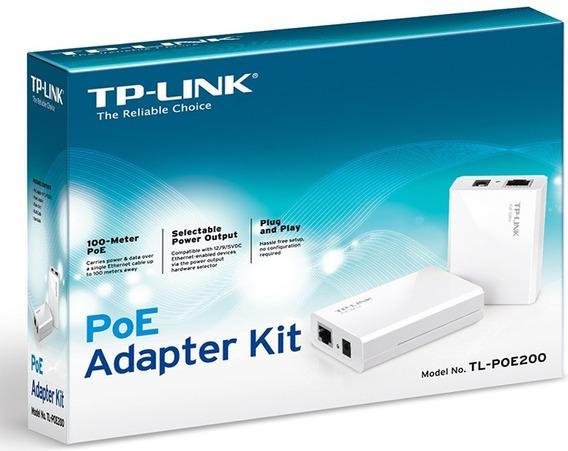 Kit Poe Injector Tp-link Splitter 12/9/5v Tp-link Tl-poe200