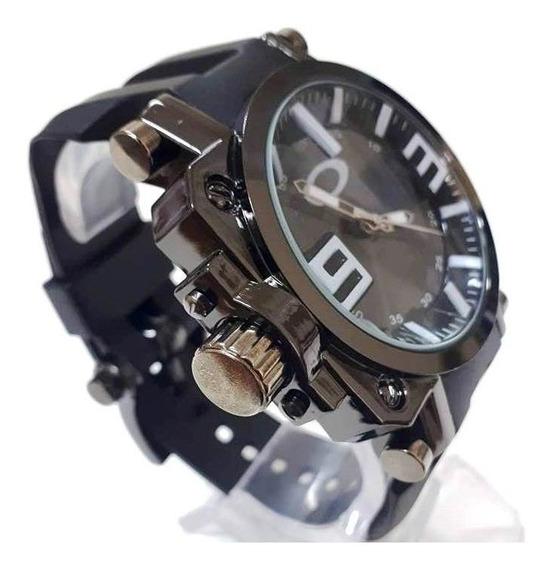 Relógio Masculio Esportivo Titanium Gearbox C/ Caixa+frete