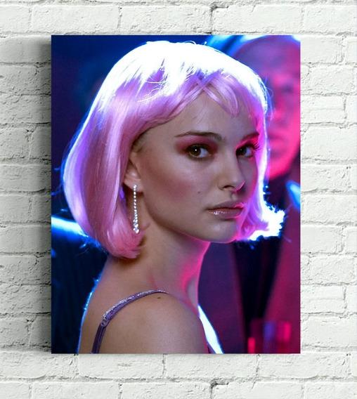 Quadro Closer Natalie Portman Em Tela De Pintura