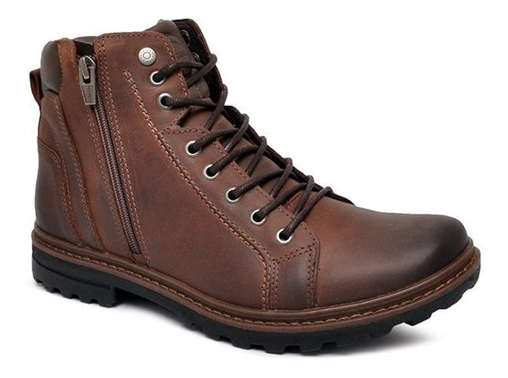 Bota Coturno Freeway Striking 3156 Couro Chocolate