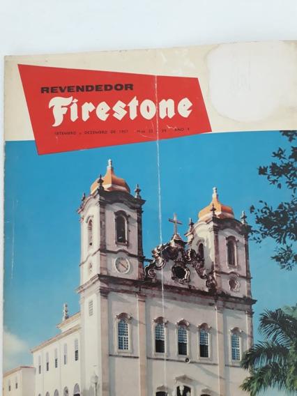 Revista Revendedor Firestone 1957 Capa Igreja Nossa Senhora