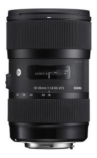 Lente Sigma 18-35mm F 1,8 Art Nikon 4 Años Garantía Oficial