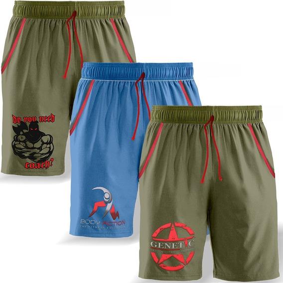 Triple Pack Verano Bermuda Pantalon Genetic Training