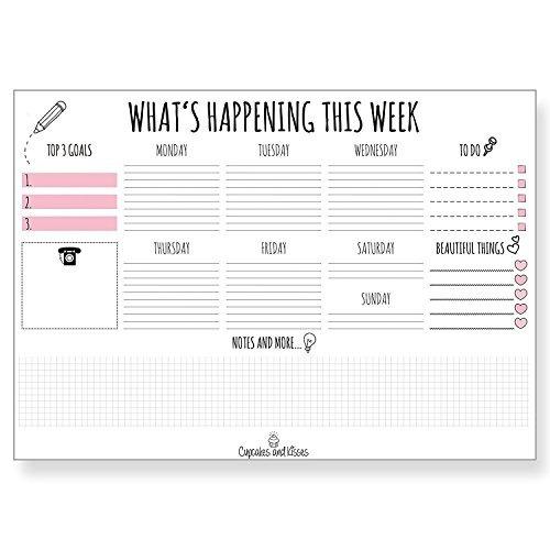 Calendario Para Escribir.Cupcakes Y Besos Escritorio Pad Calendario Para Escribir I P