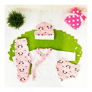 Caja B4 Ajuar Bebé Nacimiento 4 Pza Variedad Babyshower Cloe