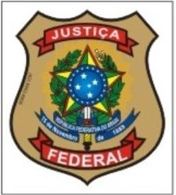 Adesivo Justiça Federal Para Uso Interno - Frete R$ 7,00