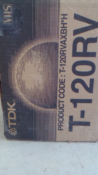 Fitas De Video Cassete Tdk T120 Nova Caixa Com 10 Unidades