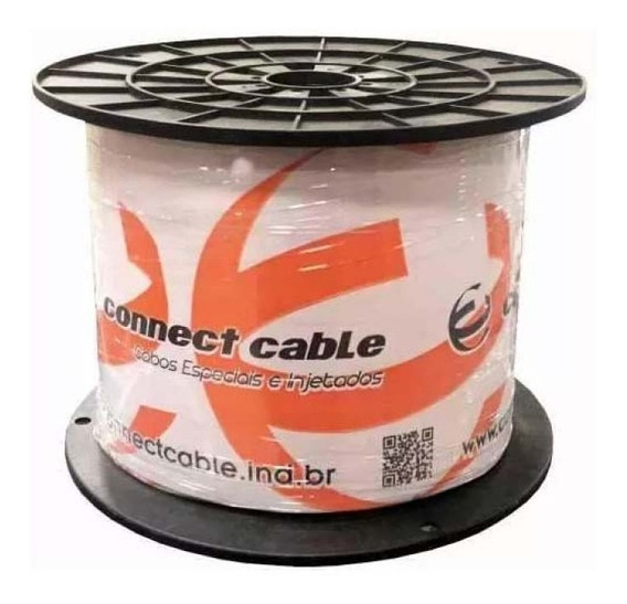 Bobina Cabo De Rede Cat5 Preto 305m Connect Cable 2 Pares