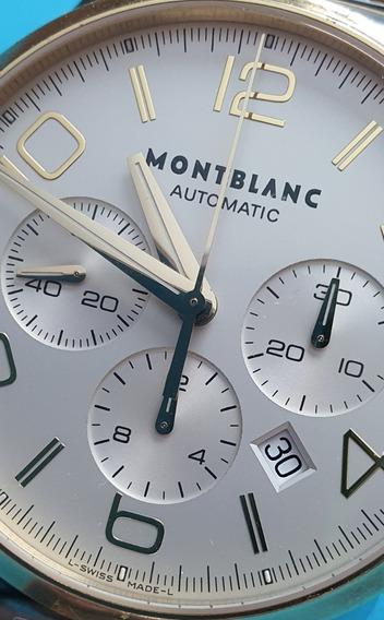 Montblanc Timewalker Chronograph Automatic - Aço E Ouro 18 K
