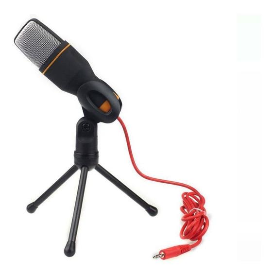 Microfone Profissional Condensador Gravação No Pc Cabo Tripé