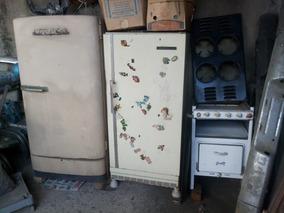 Geladeiras E Fogões Antigos Década 60/70 Lote Com 4 Peças