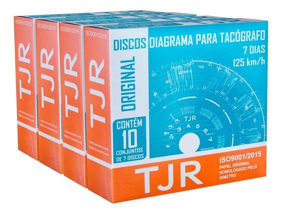 Disco Para Tacógrafo 7 Dias Tjr - 4 Caixas Com 10 Discos