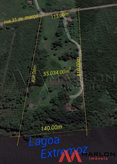 Vg00080,granja 55.000m² Margem Da Lagoa De Extremoz Com Casa
