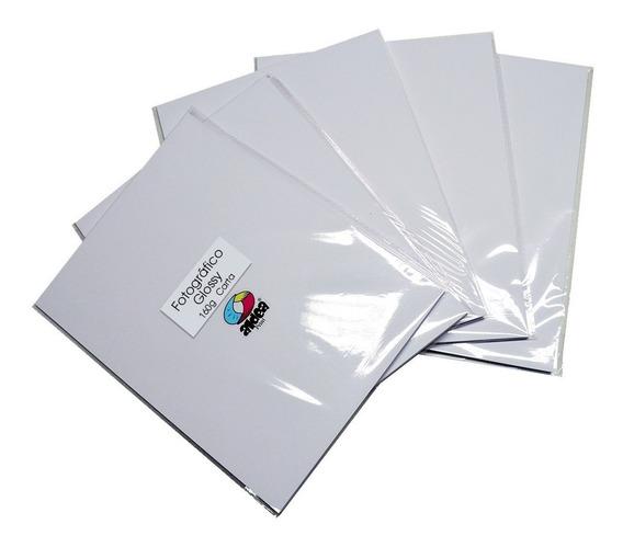10 Paquetes Papel Fotográfico Glossy Carta 160gr 200 Hojas