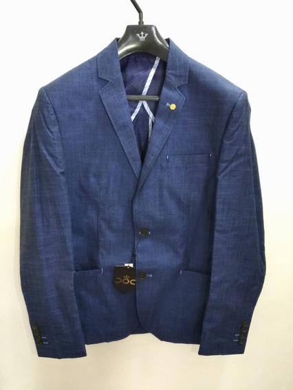 Blazer Masculino Azul Slim Docthos 50 - 12947