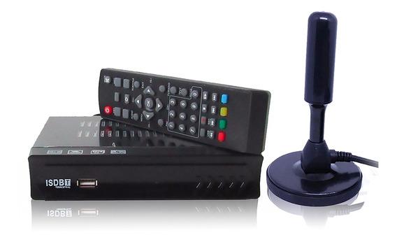 Kit Conversor Digital Isdb-t + Antena Dgt. Hdtv Hdmi Full Hd