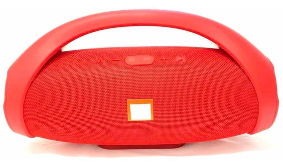 Caixinha Grande 34cm Booms Box Bluetooth Portátil Vermelha
