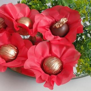 50 Forminhas Flor Luxo P Doces Em Tecido E Tela -