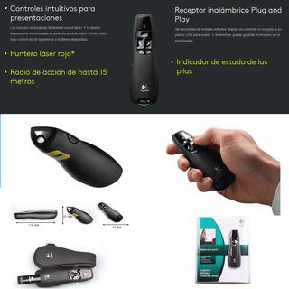 Presentador De Diapositivas Usb Puntero Láser Logitech R400