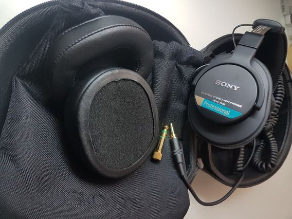Headphone Sony Mdr 7506 Pro Hard Case E Almofadas Extras