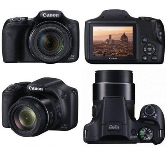 Câmera Canon Sx520 Full Hd Zoom 42x