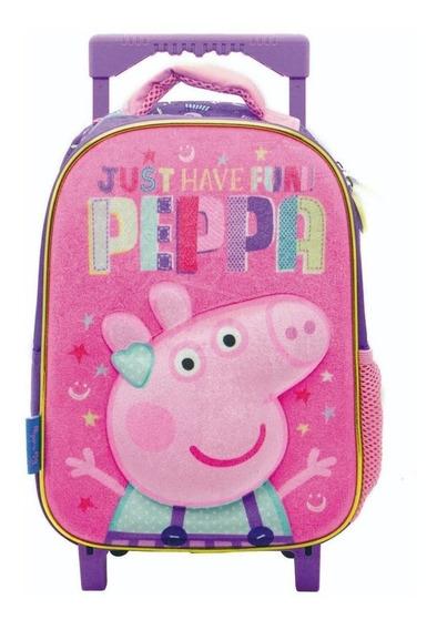 Mochila Con Carrito Peppa Pig Escolar Jardín Modelos 3d