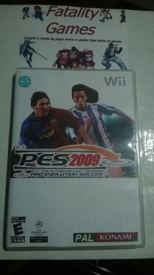 Pro Evolution Soccer 2009 - Pes 2009 - Wii - Europeu - Pal